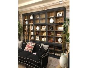 Libreria Dialma brown in legno cod. 5491 / 5492