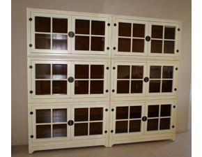 Libreria Domino legno laccato bianco opaco di Decor (Legend) OFFERTA OUTLET