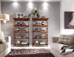 Libreria Etajer Artigianale in legno a prezzo Outlet