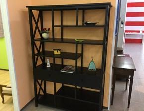 Libreria Etnico Castagnetti in legno in Offerta Outlet