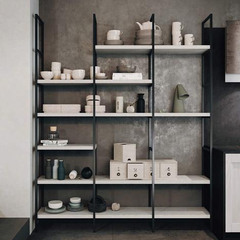 Libreria factory di desiner metallo legno marchiata for Rivenditori arredo 3