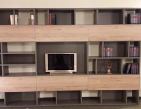 Libreria Ferrimobili in laminato opaco Greywood a prezzo Outlet