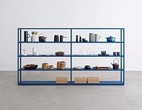 Libreria Freestanding blu denim Desalto con un ribasso del 26%