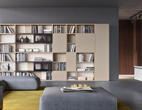 Libreria in laccato opaco stile design Libreria design ante scorrevoli  Md work