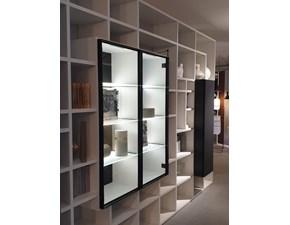 Libreria in laccato opaco stile moderno Selecta Lema