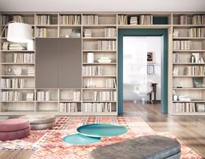 Libreria in laminato materico stile moderno Mobile-biblioteca del progr. small & large scontato del 30% Furlan