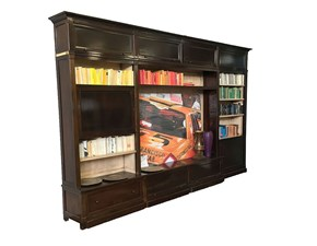 Libreria in legno stile classico Livingstone Grande arredo