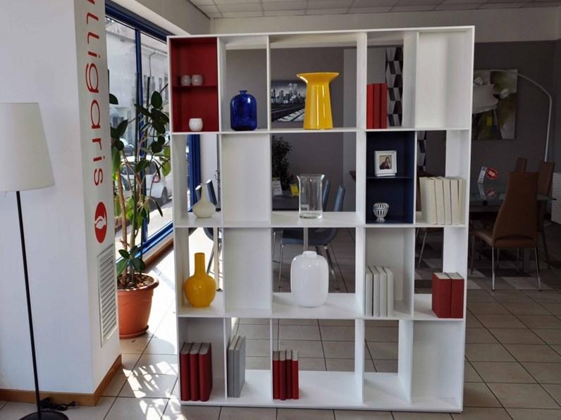 Libreria in legno stile moderno Division Calligaris
