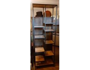 Libreria in legno stile moderno Mobile scaffale industrial legno e metallo  Outlet etnico
