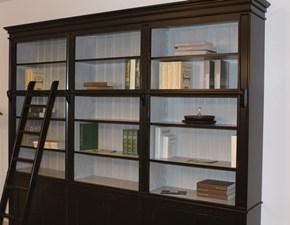 Libreria in stile classico Dialma brown in legno Offerta Outlet