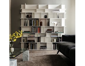 Libreria in stile design Cattelan in laccato opaco Offerta Outlet