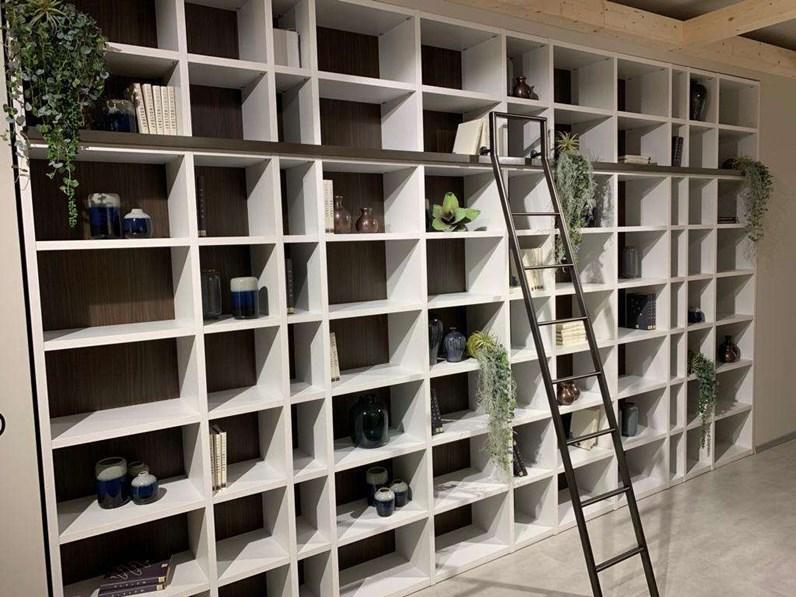 Libreria in stile design Giessegi in legno Offerta Outlet