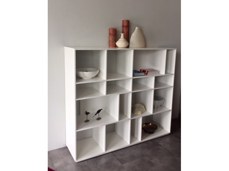 Libreria in stile design Mdhouse in laccato opaco Offerta Outlet
