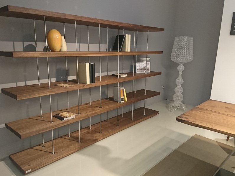 Libreria in stile design Riva 1920 in legno Offerta Outlet