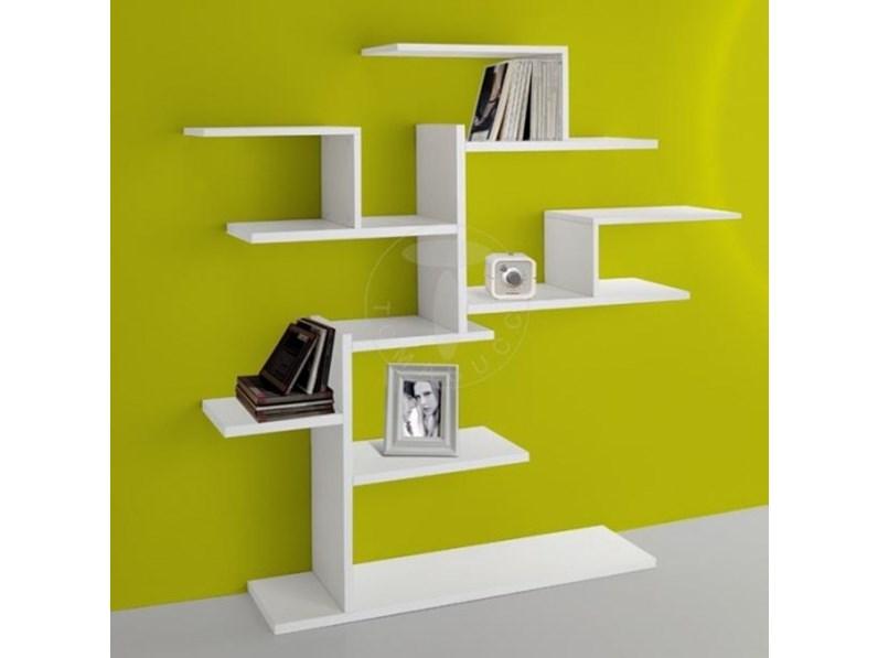 Libreria in stile design Tomasucci in melamminico Offerta Outlet