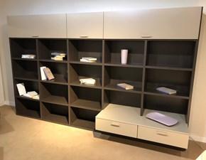 Libreria in stile moderno Battistella in laminato opaco Offerta Outlet