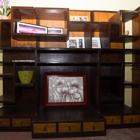 Libreria indiana in 3 moduli soggiorni a prezzi scontati for Moduli libreria