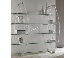 Libreria La Seggiola con ripiani in vetro in Offerta Outlet