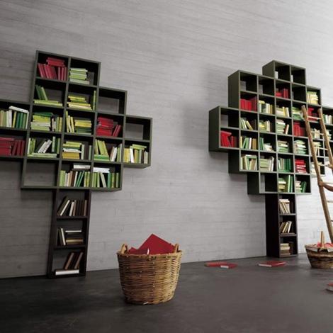 Soggiorno lago 30 mm albero laccato opaco librerie design for Librerie design outlet