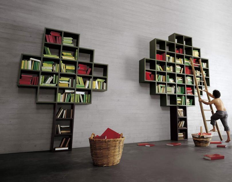 soggiorno lago 30 mm albero laccato opaco librerie design