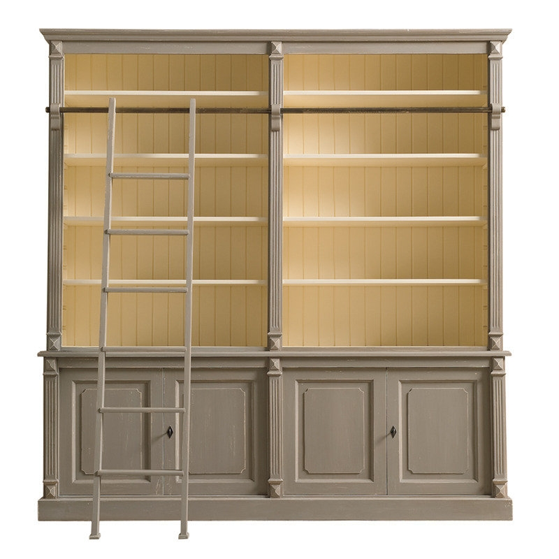 Libreria legno con scaletta - Soggiorni a prezzi scontati