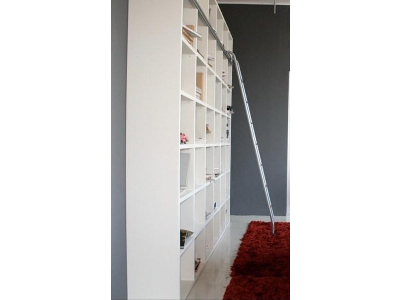 Libreria Lema in laccato opaco a prezzo Outlet