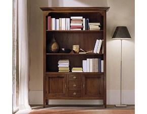 Libreria Libreria classica in legno massello scontata del 30% Artigianale con uno sconto del 30%