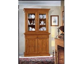 Libreria Libreria con vetri anticata noce scontata del 50% Artigianale in stile classico a prezzo scontato
