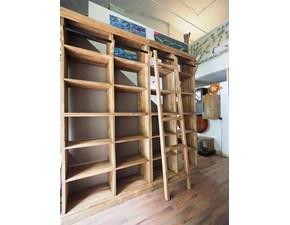 Libreria Libreria in legno di suar Nuovi mondi cucine in legno in Offerta Outlet