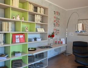 Libreria Link colore olmo sand/verde enen di Zalf con un ribasso del 58%