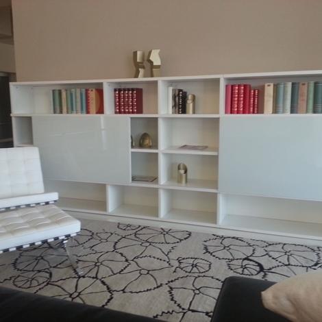 Libreria madia lounge laccata bianca e vetro soggiorni for Visma arredo ufficio
