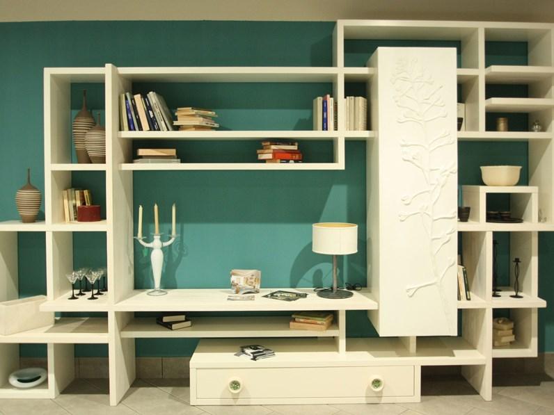 Libreria Marchetti in legno massello offerta esposizione