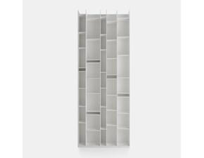 Libreria Mdf in laccato opaco Mdf random a prezzo Outlet