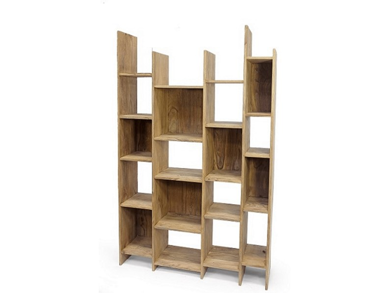 Libreria minimal zen il rovere massello light india in for Mobile libreria in offerta