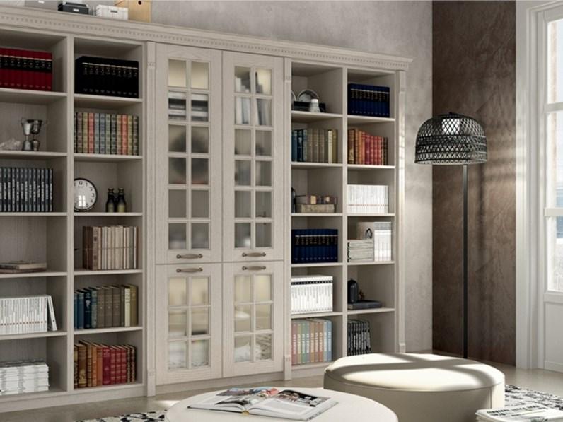 Mobili In Frassino Bianco.Libreria Modello Virginia In Legno Frassino Bianco Su Misura Personalizzabile