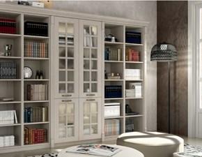 Libreria modello Virginia in legno frassino bianco Su Misura personalizzabile