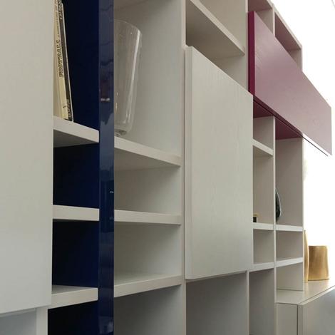 Libreria moderna in legno bianco - Soggiorni a prezzi scontati