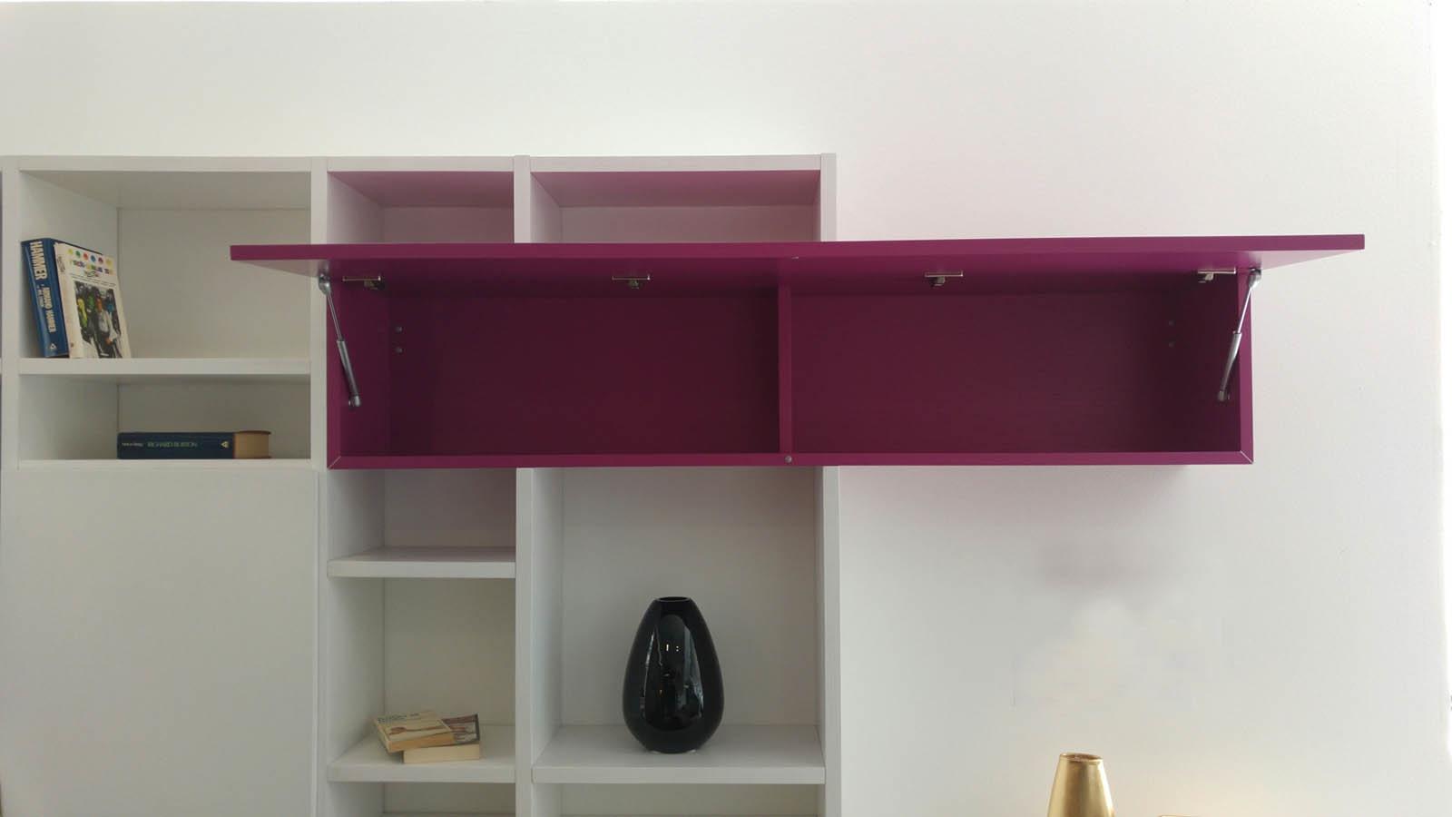 Libreria moderna in legno bianco soggiorni a prezzi scontati - Soggiorni in legno ...