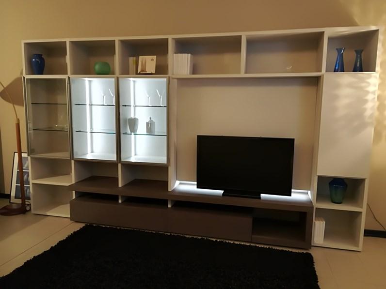 Libreria modo sangiacomo in laminato materico a prezzo outlet for Bertocchi arredamenti