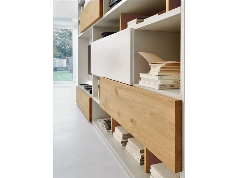 Libreria modo sangiacomo in stile design a prezzo scontato for Design scontato