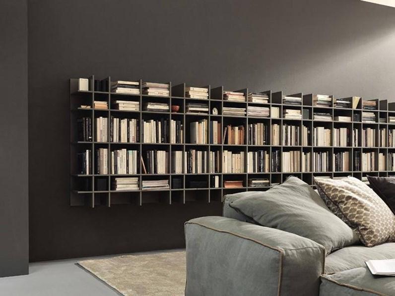 Libreria Moderna Laccata Bianca.Libreria Modulnova Modulnova Offerta Outlet