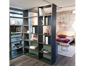 Libreria My space Alf in laccato opaco a prezzo Outlet