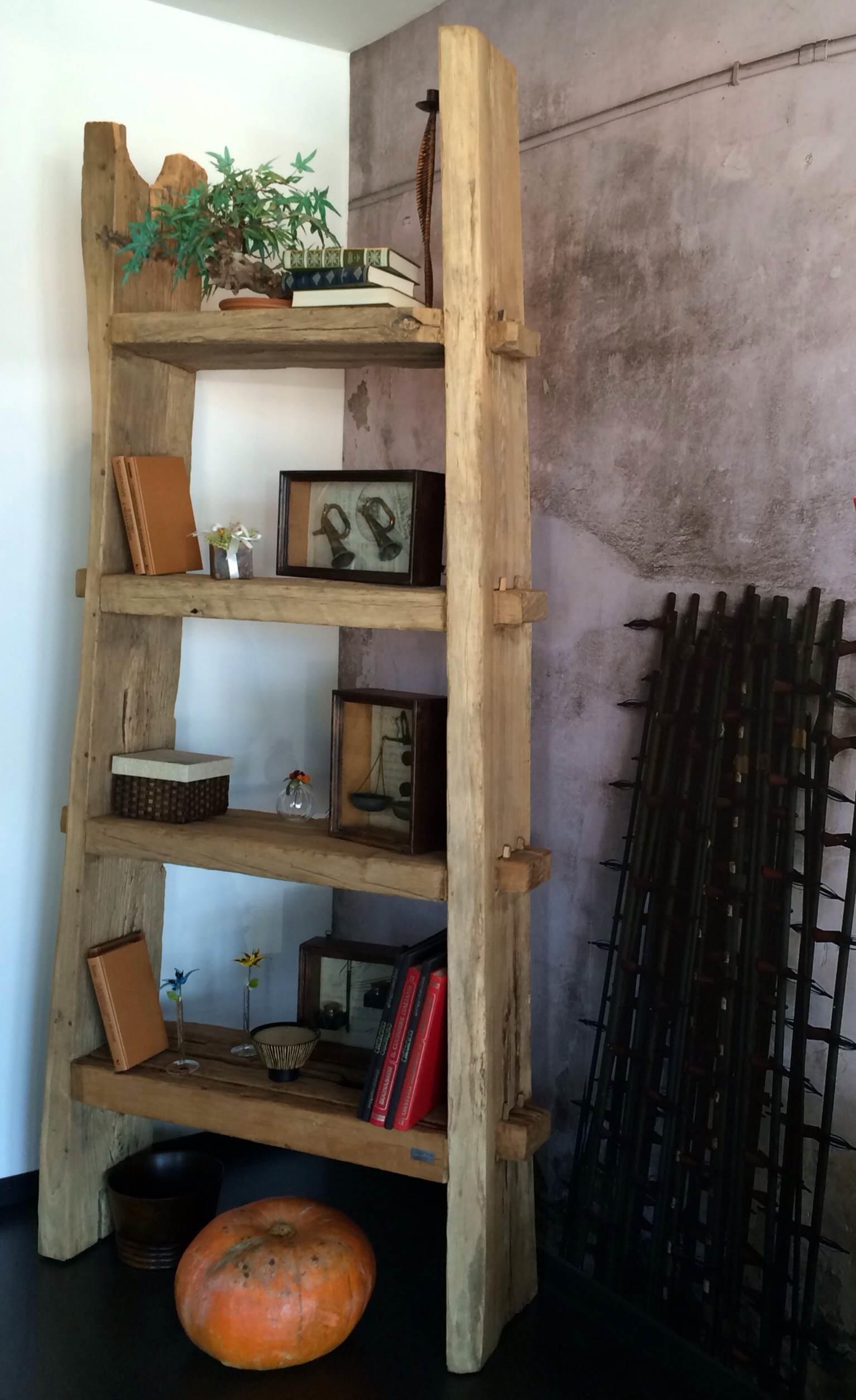 libreria nature design con assi di legno antico - soggiorni a ... - Mensole Con Assi Di Legno
