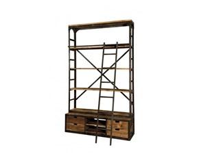 Libreria RJ in legno Libreria industrial india a prezzo Outlet