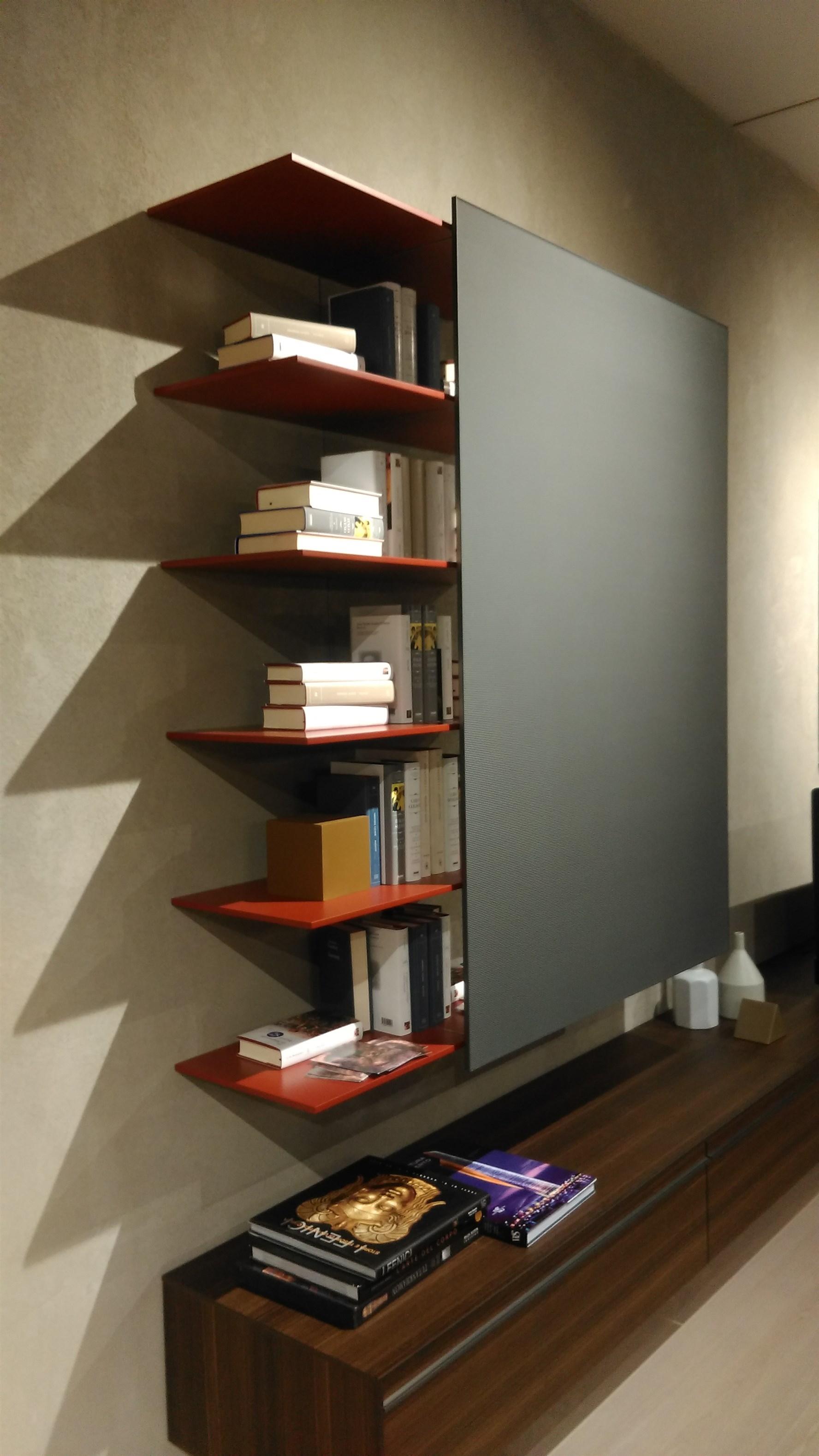 Libreria pensile password con anta scorrevole molteni c in for Libreria molteni