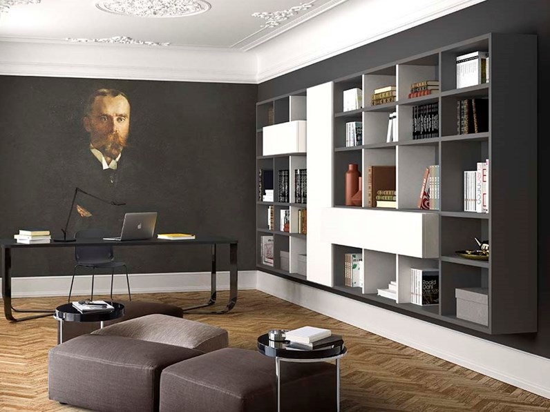 Libreria pianca spazioteca prezzi outlet for Outlet online arredamento design