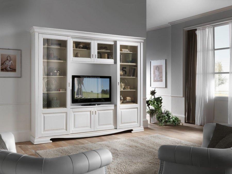 Libreria mobile soggiorno porta telesisione in legno style country