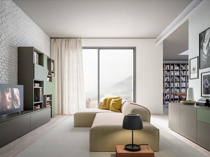 Libreria porta tv living moderno orme dey for Soggiorni living moderni