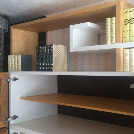 libreria porta tv marchetti da cm 300 in legno massello