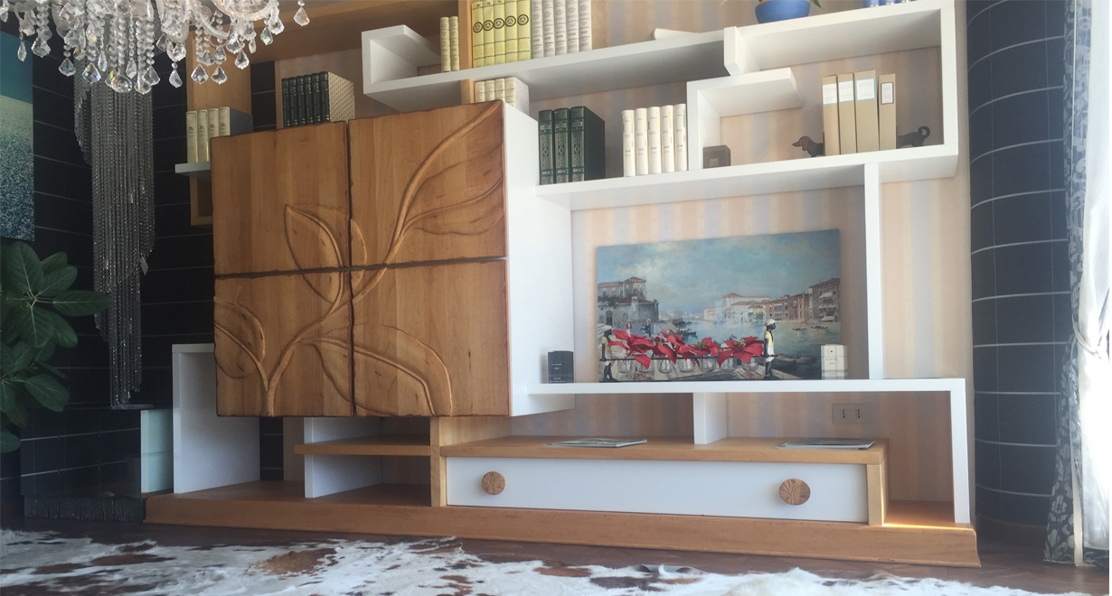 Soggiorni moderni legno massello come arredare un for Soggiorni moderni in legno